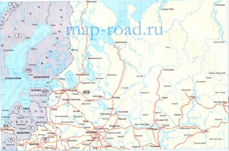 Карта дорог снг