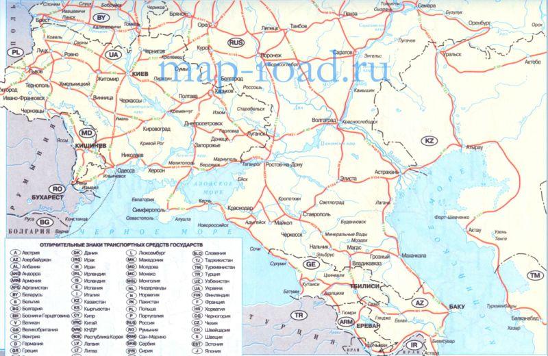 Карта дорог Европы