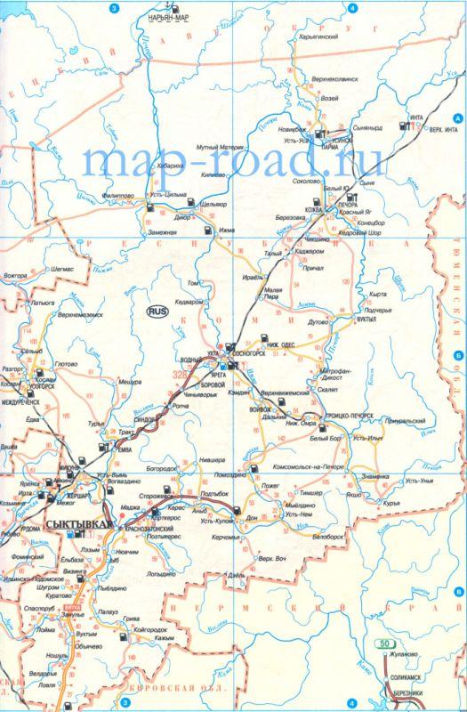 Карта дорог Архангельской