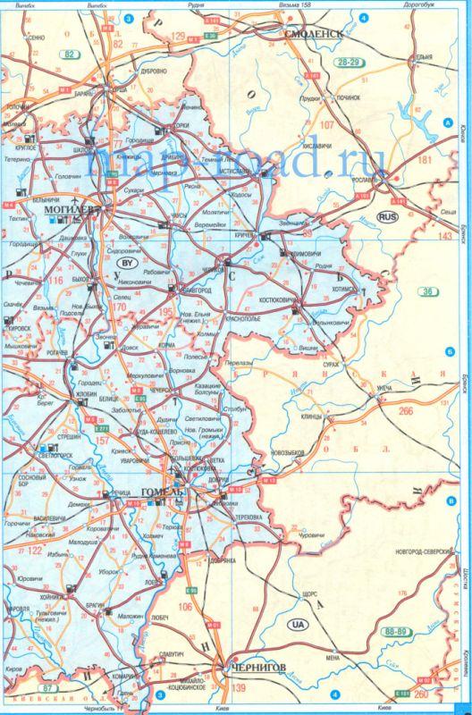 Карта Дорог Беларуси С Расстояниями