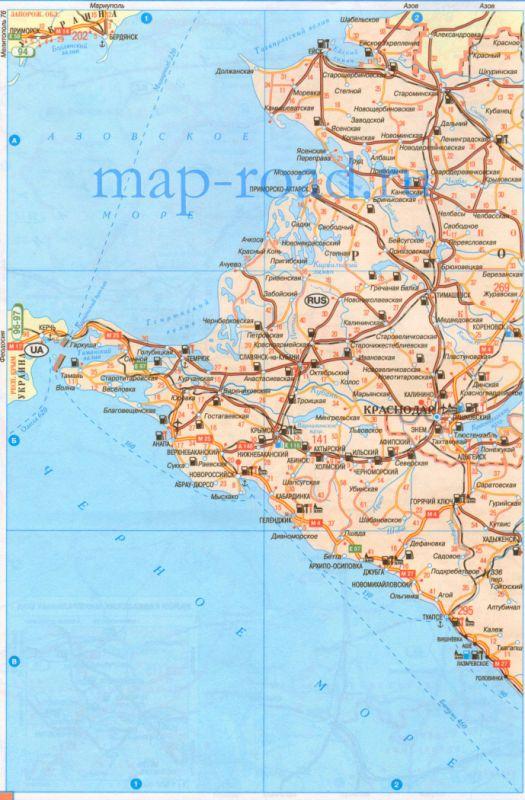 Карта дорог Краснодарского