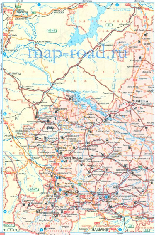 Атлас автодорог - карта