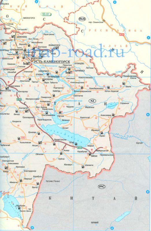 Карта Глубоковского Района Вко